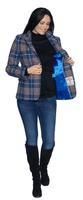 Womens Blue Tartan Luxury Harris Tweed Blazer Jacket K444H